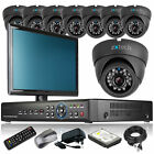 8 x Weather Proof Camera HD-MI 8 Channel DVR CCTV Kit Complete Pack with Monitor