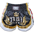 BLACK DUO KING MUAY THAI TRAINING SHORTS TRUNK KICK BOXING MARTIAL ART FIGHTING
