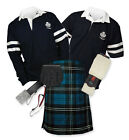 8yd Kilt Outfit 'Sports Premium' - 2-Stripe Rugby Top - Ramsay Blue