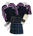 8yd Kilt Outfit 'Sports Premium' - Purple Stripe Rugby Top - Douglas
