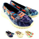 Womens Tigerbear Republik Wolfie Canvas Slip On Lace Up Casual Flat Shoes UK 3-8