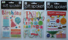 You Choose!! HAPPY BIRTHDAY PARTY Soft Spoken Dimensional Embellishment Stickers