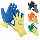 12 PAIRS Gardening Gloves Quality DIY Gloves With Latex Covered Palms All Sizes