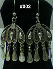 Hall marked Egypt Египет Ägypten,Authentic,Bedouin Siwa Silver Earrings,variety