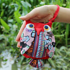 Pure Handmade Fabrics Owl Coin Purse Wings Feature Cloth Bag Cartoon Cloth Bag