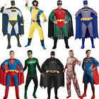 Mens Classic Adult Superhero Fancy Dress Costume New Comic Book Week Outfit