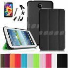 "For Samsung Galaxy Tab 4 7.0 7"" Inch Tablet Slim Shell Case Stand Cover Bundle"
