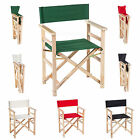 Garden Patio Folding Wooden Directors Chair - Choice of Colours