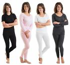 Multi Pack Womens/Ladies Thermal Underwear Sets, Tops With Long Pants