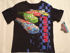DISNEY Cars 3TNavy Short Sleeve Boys Shirt Top NWT Piston Cup