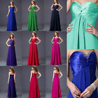 Long Chiffon Wedding Evening Formal Party Ball Gown Prom Bridesmaid Dress UK6-20