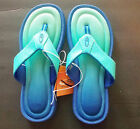 C9 by Champion Girls Thong Sandals Green Blue Size XLarge 4 NWT