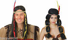 ADULTS INDIAN WIG FANCY DRESS COSTUME ACCESSORY WILD WEST WESTERN NATIVE CHIEF