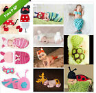 Newborn Baby Girl Boy Crochet Knit Costume Clothes Photo Photography Hats Outfit