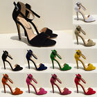 LADIES PROM PARTY  BRIDAL DIAMANTE HIGH HEELS SHOES SANDALS 102-2 SIZE UK 2-9
