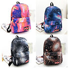 Galaxy Starry Pattern Travel Backpack Canvas School Book Bookbag Bag Rucksack