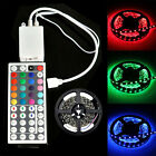 PCB Black 5m RGB 5050 300 LED SMD Light Strip+ 24 44 key IR Remote Free Shipping