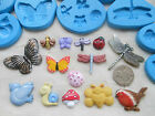 1x Sugarcraft/FIMO Mould: BUGS Robin Ladybird Butterfly Dragonfly Snail Bird Bee