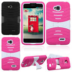 Impact Hybrid Hard Case Stand For LG Optimus L70 MS323 Exceed 2 VS450PP Verizon
