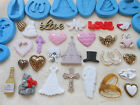 Sugarcraft/Fimo MOULD: LOVE WEDDING VALENTINE - Bells Cross Heart Flowers Doves