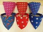 The Original Dog Bandana. 100% Machine Washable Cotton. Small- XXL. Handmade