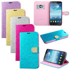 Glitter Flip Leather Case Wallet Cover Stand for Samsung Galaxy Mega 6.3 I9200