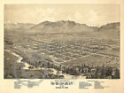 1875 HISTORICAL WALL MAP OGDEN CITY UTAH TERRITORY  Largest Size