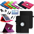 "Rotating Leather Case Cover for Samsung Galaxy Tab 3 10.1"" + Accessory Bundles"
