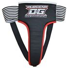 BLACK DUO GEAR MUAY THAI ELASTICATED PADDED FEMALE GROIN GUARD PROTECTION