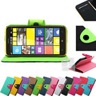 Two Tone Leather Wallet Case Cover with Stand Magnetic Flap Card Slots For Nokia