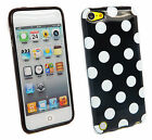 Polka Dot Dots TPU Silicone Gel Case Cover for iPod Touch 5 5th Gen Generation