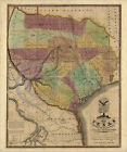 1837 LARGE HISTORICAL WALL MAP TEXAS BY STEPHEN AUSTIN