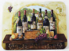 Glass Chopping Board Deg De Vin French Wine Bottles Scene Kitchen Worktop Saver