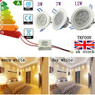 3/7/12W LED Down light Ceiling Recessed Lamp Spotlight Warm / Cool White kitchen