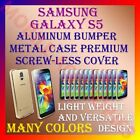 ACM-ALUMINUM BUMPER METAL CASE COVER SCREWLESS FRAME for SAMSUNG GALAXY S5 NEW
