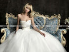 New A-line Strapless Tulle Simple Wedding Dresses Bridal Gown Custom Size 4-26++