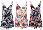Womens Ladies Floral Alphabet Swing All In One Playsuit Ladies Playsuit UK 8-14