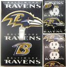 Baltimore Ravens custom Light Switch wall plate covers man cave room decor