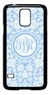 Personalized Monogram Floral Lace for Samsung Galaxy S3 S4 S5 Note 2 3 M232