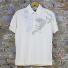 Volcom Compress Casual Short Sleeve Polo Shirt New - Vintage White - Size: S/M/L