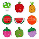 New Cute Women Fruits Soft Plush Mini Coin Purse Zipper Bag Change Purse Handbag