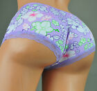 Sexy Booty boy shorts Blue Purple Pink Novelty Print low rise panties L or XXL