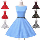40s 50s Rockabilly Vintage Retro Party Pinup Swing Prom Evening Dress XS-XLplus