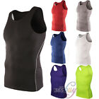 Mens Body Armour Compression Wear Base Layer Tank Top Vest Under Shirt Tops Skin