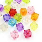 1000pcs Mixed Faceted Wholesale Square Acrylic Beads New 8mm