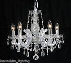 Marie Therese Crystal Chandelier Ceiling Light In Gold OR Polished Chrome