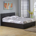 New - Hf4you Seattle Side Gas Lift Ottoman Storage Bed - 3ft/4ft/4ft6/5ft