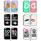 2 x Sweet Fashion Style Lovers Couple Hard Case Cover Skin For iPhone 5 5G 5S