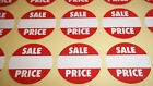 30mm Bright Red Sale Price Point Stickers / Sticky Labels / Swing Tag Labels