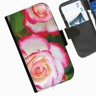 Flowers and plants Leather wallet mobile phone Skin case Personalised iPhone